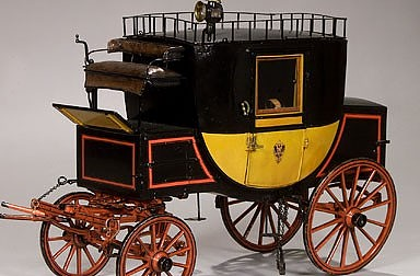Coach for transporting people, luggage and mail, 19th century