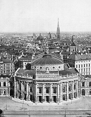 Wien, K. K. Hofburgtheater. Fotografie, um 1908