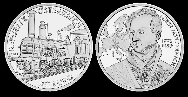 20-Euro coin – the Biedermeier era, commemorative coin, 2003