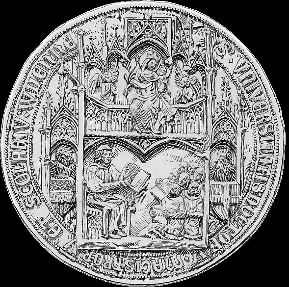 Ältestes Siegel der Universität Wien, 1365