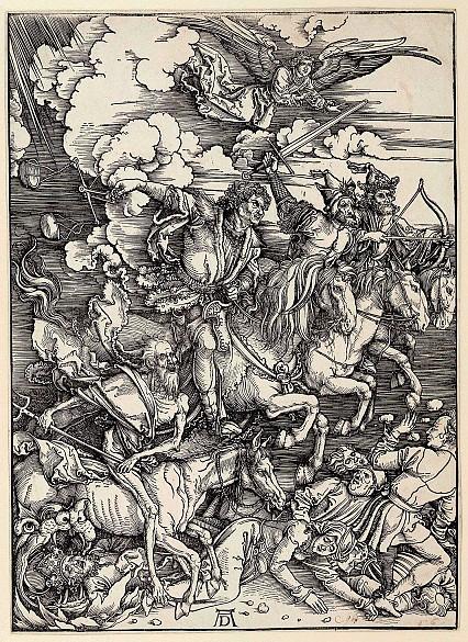 Albrecht Dürer: The Four Horsemen of the Apocalypse, woodcut, 1497/98