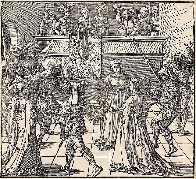 Albrecht Dürer:The torch dance from *Freydal*