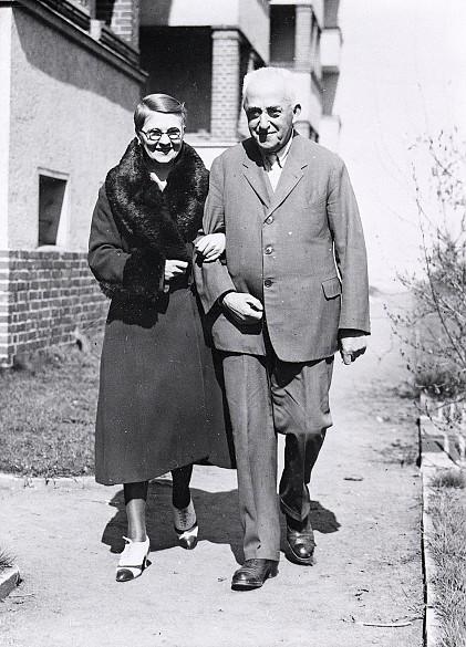 Leopold Wölfling in old age together with his wife Klara Gröger