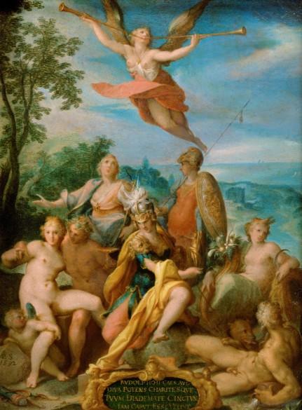 Bartholomäus Spranger: Allegory on the Reign of Emperor Rudolf II, 1592