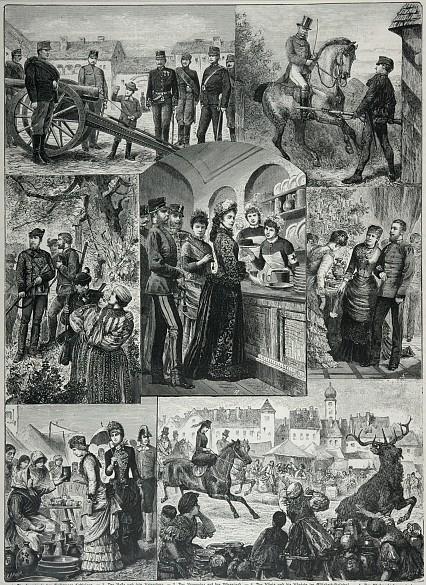 Bilder vom königlichen Hof in Ungarn, Xylografie, 19. Jahrhundert