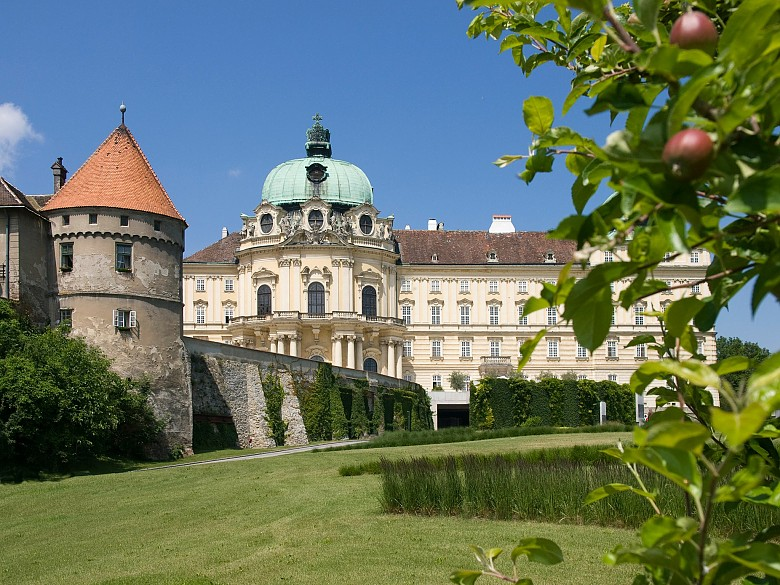 View of the Imperial Wing of the abbey at Klosterneuburg