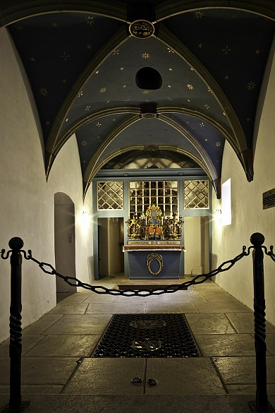 The Habsburg crypt in the Loreto chapel at Muri Abbey