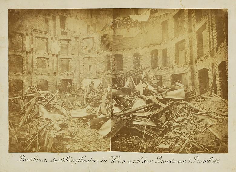 Brandruine des Ringtheaters, 1881