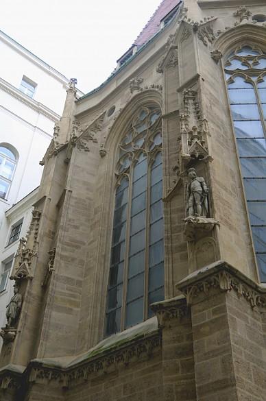 Chorschluss der Burgkapelle - Nahansicht