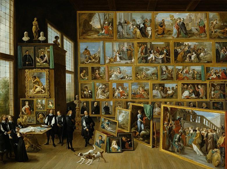 David Teniers d. J.: Erzherzog Leopold Wilhelm in seiner Galerie in Brüssel, um 1651