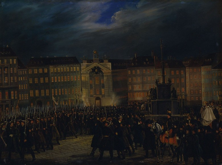 March-past of the National Guard in the Am Hof square in Vienna, 1848