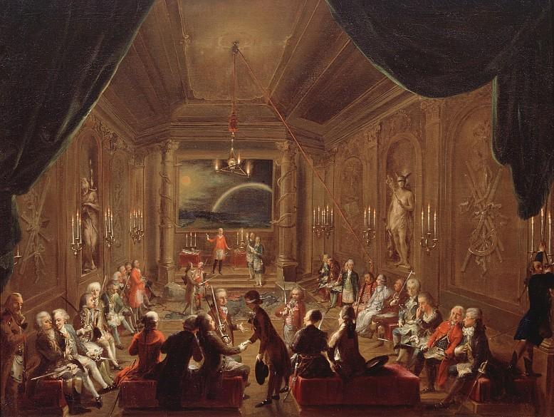 """Die Wiener Freimaurerloge """"Zur gekrönten Hoffnung"""", um 1785"""