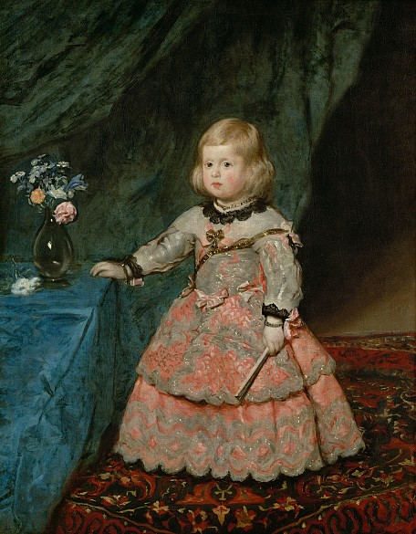 Diego Rodríguez de Silva y Velázquez: Infantin Margarita Teresa (1651–1673) in rosafarbenem Kleid, um 1653/16…