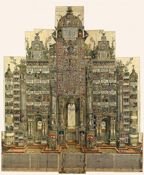 Albrecht Dürer and workshop: The Triumphal Arch of Emperor Maximilian I