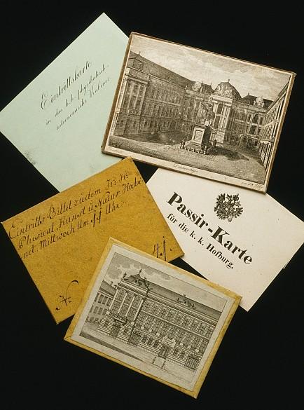 Eintrittskarten aus dem 18. Jahrhundert