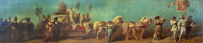 Study for the confectioners' float in the Markart pageant of 1879