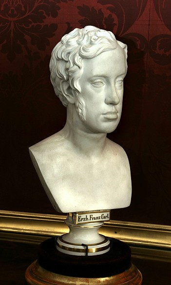 Archduke Franz Karl, porcelain bust