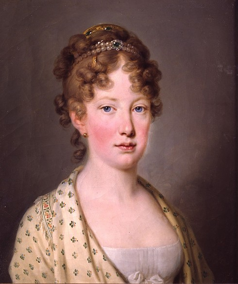 Archduchess Leopoldine, daughter of Emperor Franz II (I) and future Empress of Brazil, oil painting, c. 1815