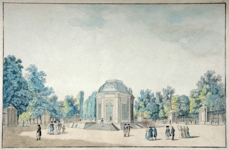 F. Knipp: The Menagerie of rare animals at Schönbrunn, etching, 18th century