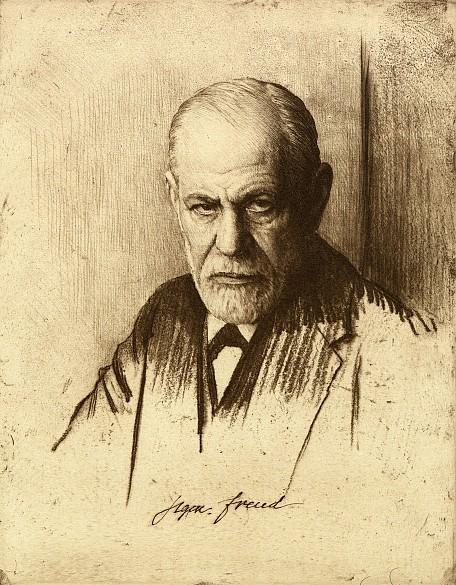 Ferdinand Schmutzer: Sigmund Freud, Radierung, um 1900