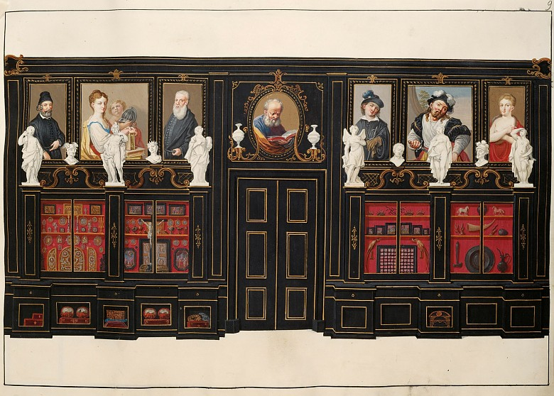 Ferdinand Storffer: The Black Cabinet from the painted inventory of the Imperial Collections in Vienna, c. ...