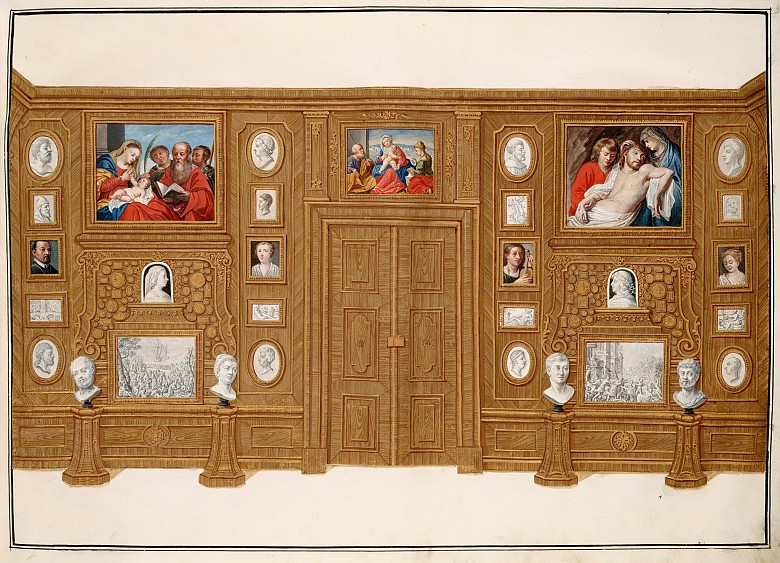 Ferdinand Storffer: The Black Cabinet from the painted pictorial inventory of the Imperial Collections in V...