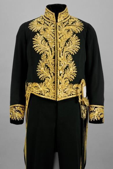 Dress coat belonging to the grand gala uniform of an envoy or the lesser gala uniform of an ambassador, mad...