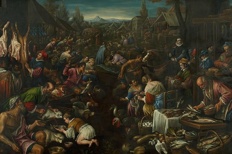 Francesco da Ponte: Jahrmarkt, um 1590/1600