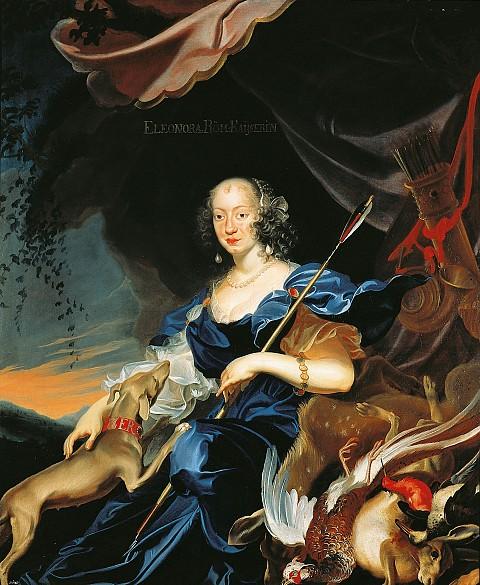Frans Luycx: Eleonora of Gonzaga as Diana, empress, third wife of Ferdinand III, 1651