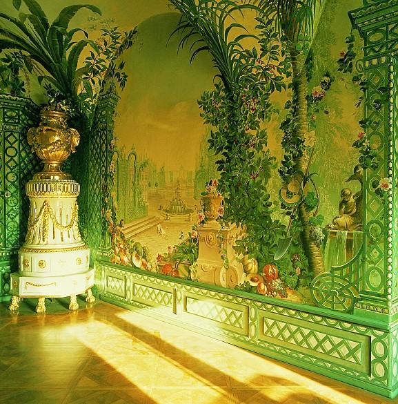 Garden scenery in the summer bedroom of Maria Theresa in the Bergl Rooms