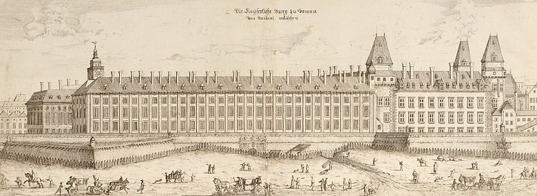 Georg Matthäus Vischer: The imperial palace at Vienna, copperplate engraving from: *Topographia archiducatu...