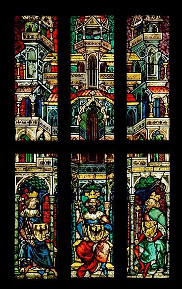 Glasgemälde aus der Bartholomäuskapelle in St. Stephan, um 1380