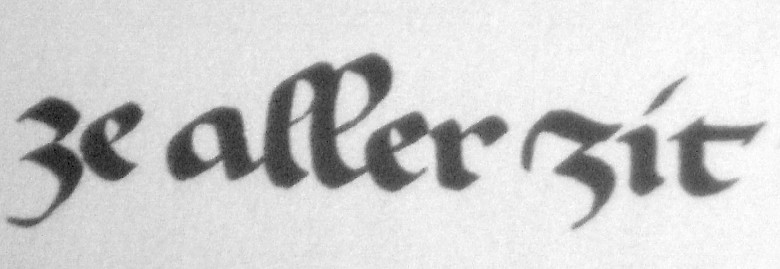 Gothic minuscule (cursive form), 13th to 15th century