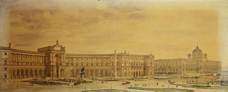 Gottfried Semper: Design for the Neue Burg, c. 1900