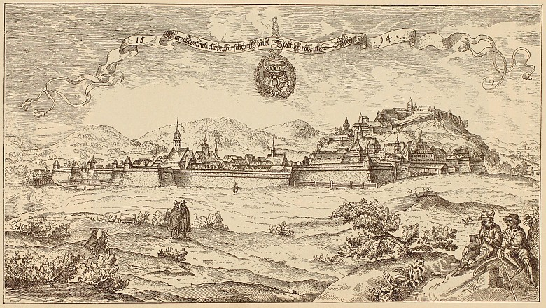 Graz in 1594, reproduction of the print by Georg Pehaim in: *The Austro-Hungarian Monarchy in Words and Pictu…