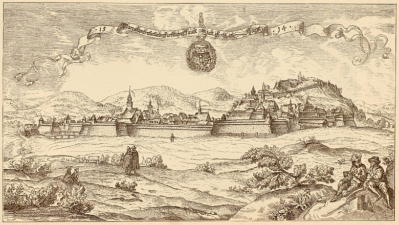 Graz in 1594, reproduction of a print by Georg Pehaim