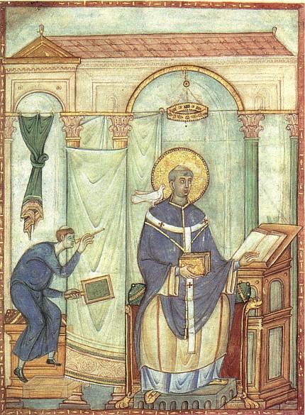 Master of the *Registrum Gregorii*: Pope Gregory in pontificals, c. 985