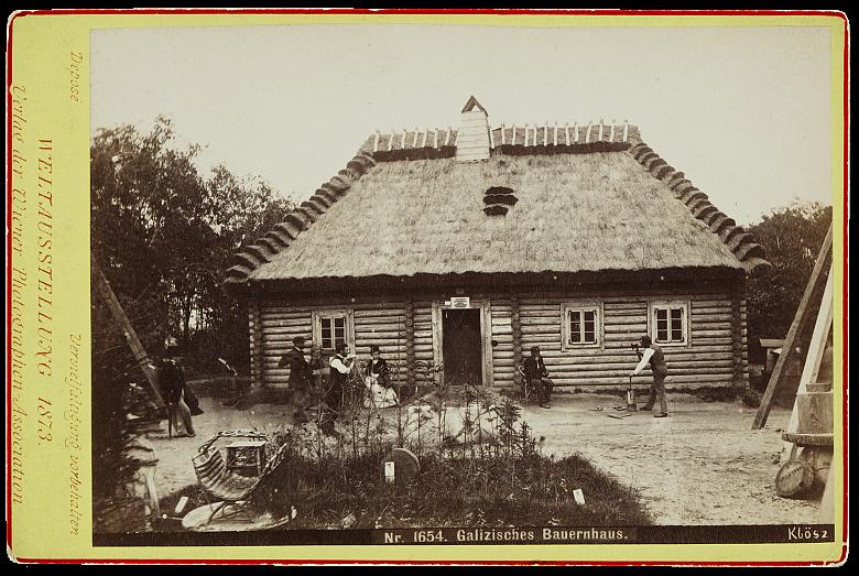 György Klösz: The Galician farmhouse, 1873