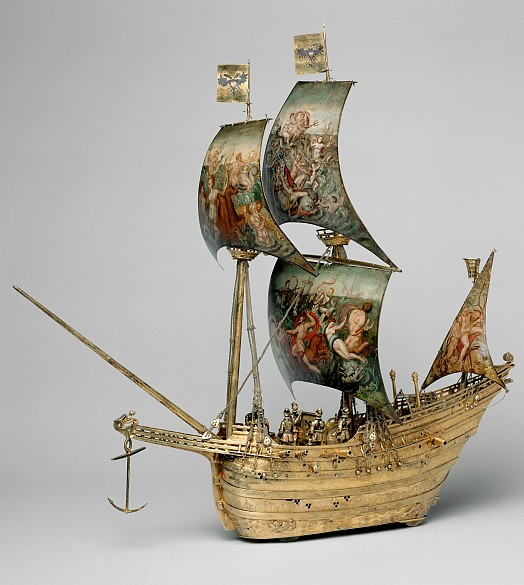 Hans Schlottheim: Automaton in the form of a 'nef' or galleon, 1585