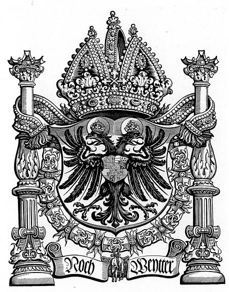 Heinrich Vogtherr the Elder: Arms of Emperor Charles V, wood engraving, c. 1547