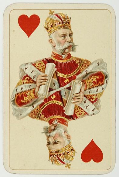 Herzkönig der Kaiser-Jubiläumskarten
