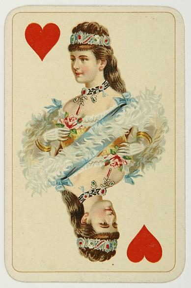 Herzkönigin der Kaiser-Jubiläumskarten