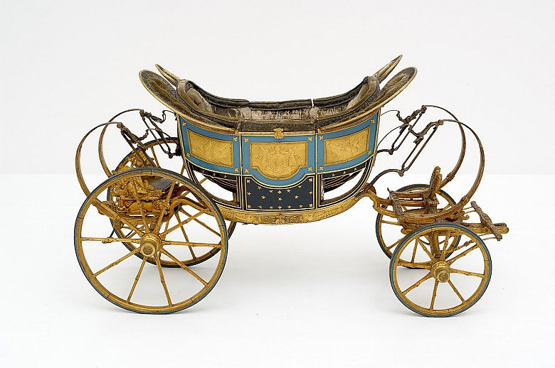 J. Fr. Tremblay (from a sketch by Antonio Carassi): The King of Rome's child's carriage, 1811/12