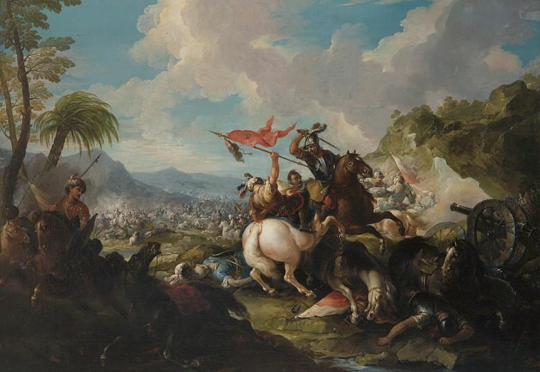 Jacques-Ignace Parrocel: Türkenschlacht, um 1711/1720