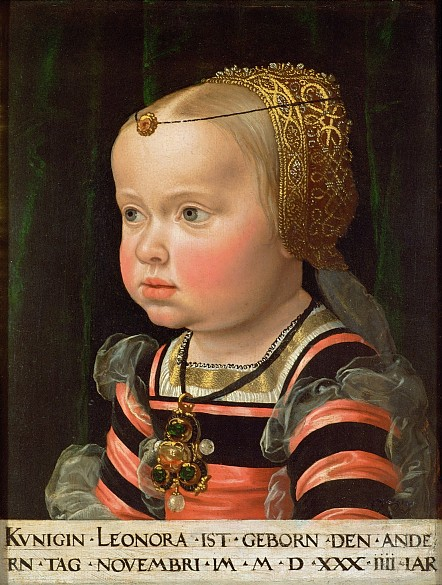 Jakob Seisenegger: Archduchess Eleonora (1534–1594), Duchess of Mantua, at the age of two, c. 1536