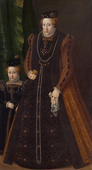 Jakob Seisenegger: Archduchess Maria (1531–1581), Duchess of Jülich, Cleves and Berg, full-length portrait wi…