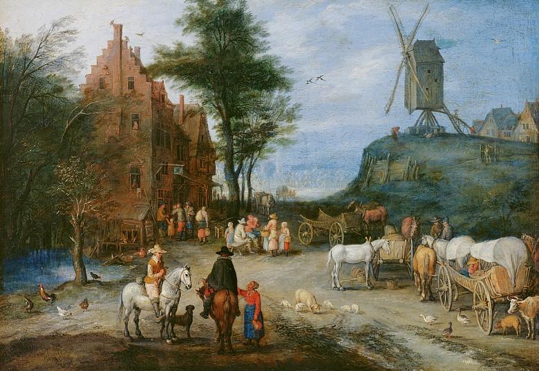 Jan Brueghel d. Ä.: Dorfstraße, 1603