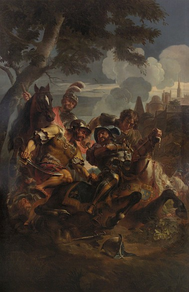 Jan Erasmus Quellinus: King Francis I of France being captured at the Battle of Pavia, c. 1681