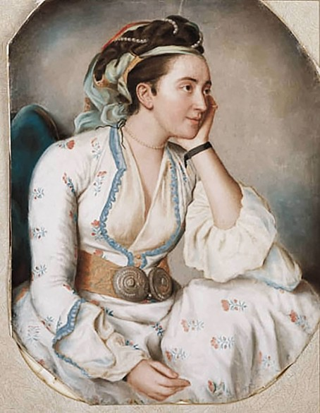 Jean-Étienne Liotard: Young woman in Turkish dress, 1740–1750