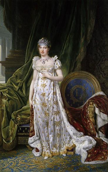 Jean Baptiste Isabey: Marie Louise als Kaiserin der Franzosen, Gouache, 1810